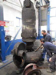 atık su dalgıç pompa sarım bakım onarımı